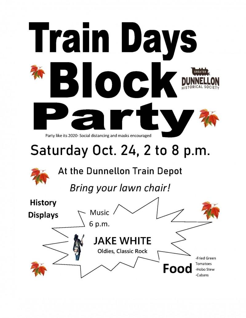 Depot Days flyer